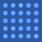 Most used webdesign icons, ui set