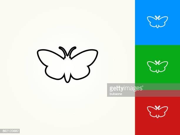 Moth Black Stroke Linear Icon
