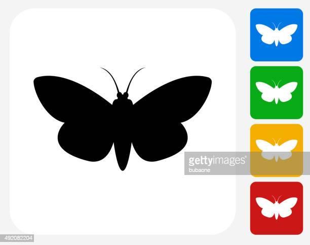 Moth Icon Flat Graphic Design