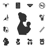 Mother and baby icon. Simple element illustration. Mother and baby symbol design from Pregnancy collection set. Can be used for web and mobile