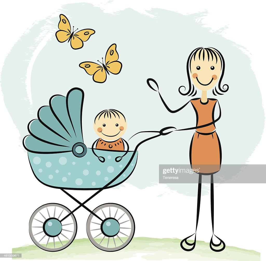Free Download Of Baby Stroller Cartoon Vector Graphics And Illustrations
