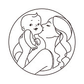 Mother and child logotype.
