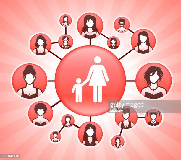 mother & boy  women's rights pink vector background - me too social movement stock illustrations, clip art, cartoons, & icons