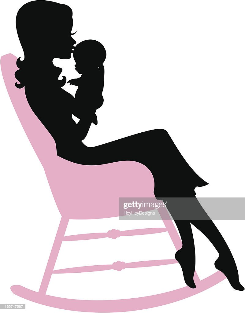 Mother Holding Baby In Rocking Chair Vector Art Getty Images