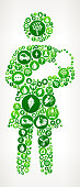 Mother Holding Baby Nature and Environmental Conservation Icon Pattern