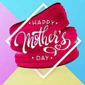Mothers Day beautiful letters and Spring holiday vector background.