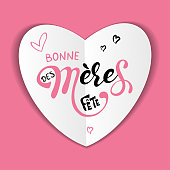 Mothers day Bonne fete des Meres Mothers day greeting card in french