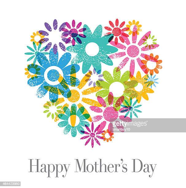 mother's day card - mothers day stock illustrations