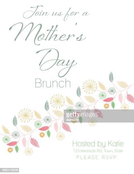 ilustraciones, imágenes clip art, dibujos animados e iconos de stock de día de la madre tarjeta con diseños florales - mothers day