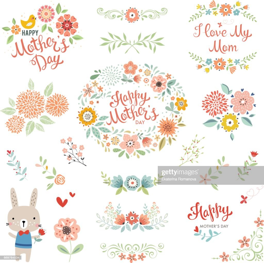 Mother's Day Floral Elements_05