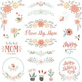 Mother's Day Floral Elements_09