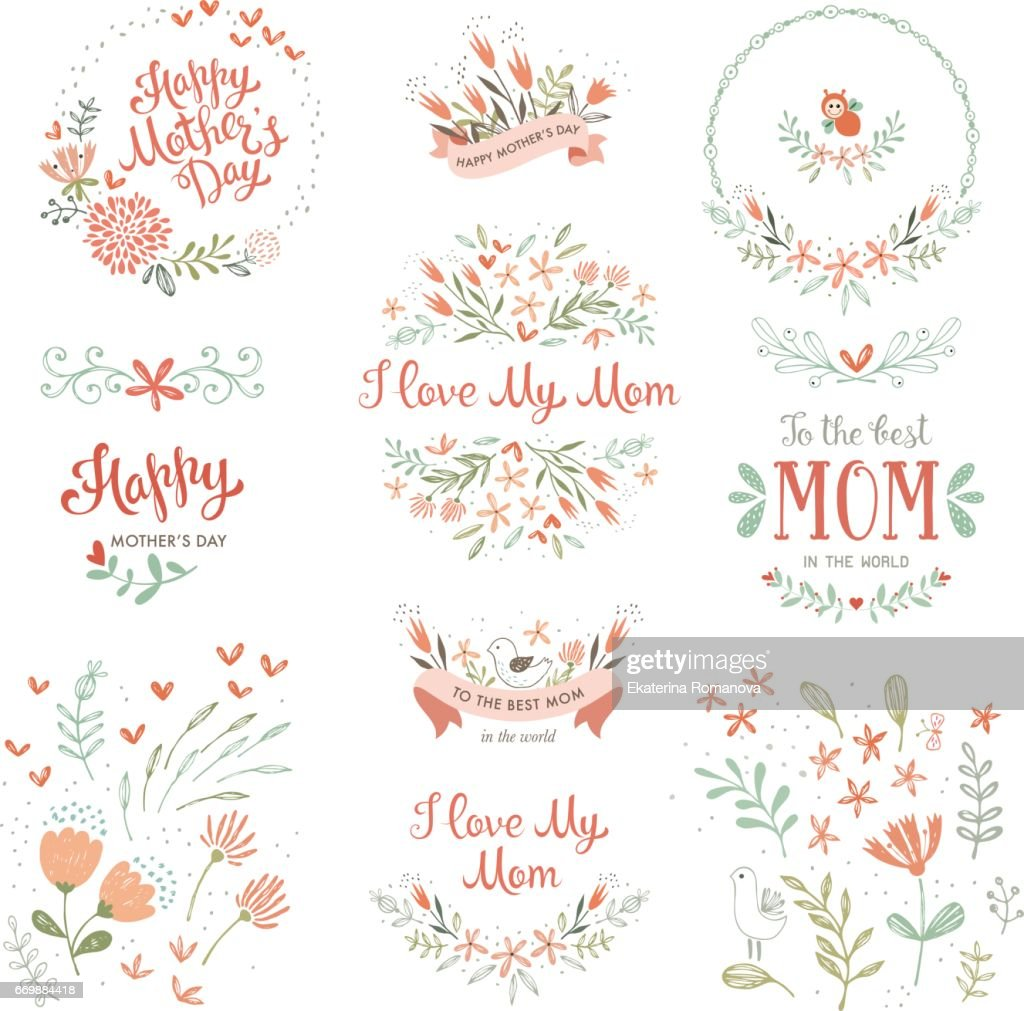 Mother's Day Floral Elements_14