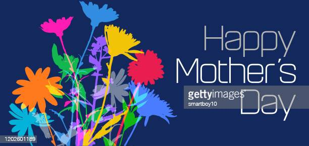 mothers day flowers - mothers day stock illustrations