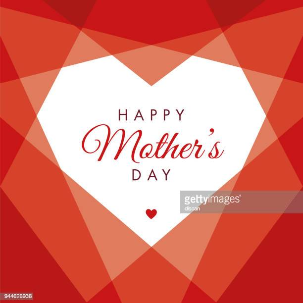 mother's day geometric heart - mothers day stock illustrations