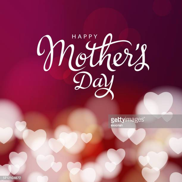 mother's day hearts background - mothers day stock illustrations