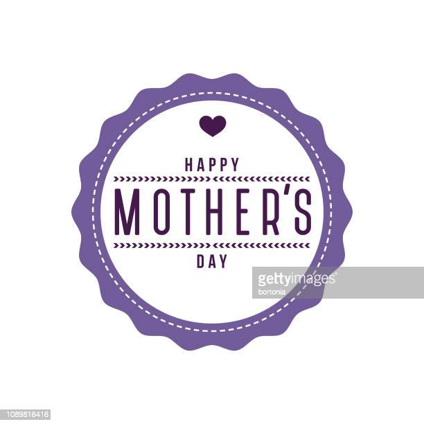 mother's day label - mothers day stock illustrations
