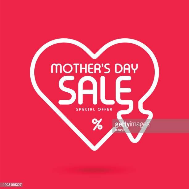 mother's day sale banner stock illustration - mother's day stock illustrations