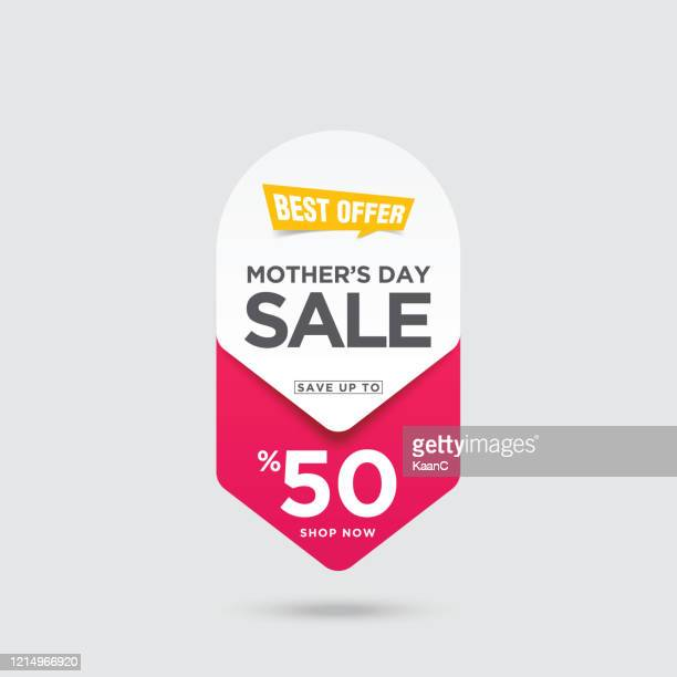 mother's day sale banner stock illustration - price tag stock illustrations