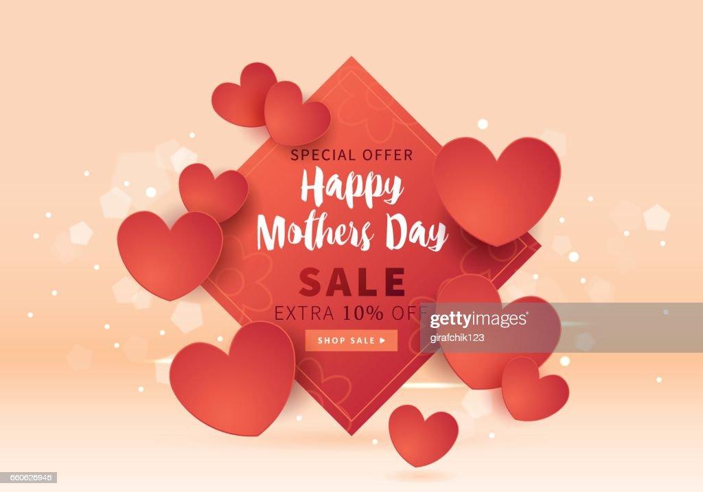 Mütter Tag Verkauf Banner Vorlage Für Social Media Werbung Einladung ...