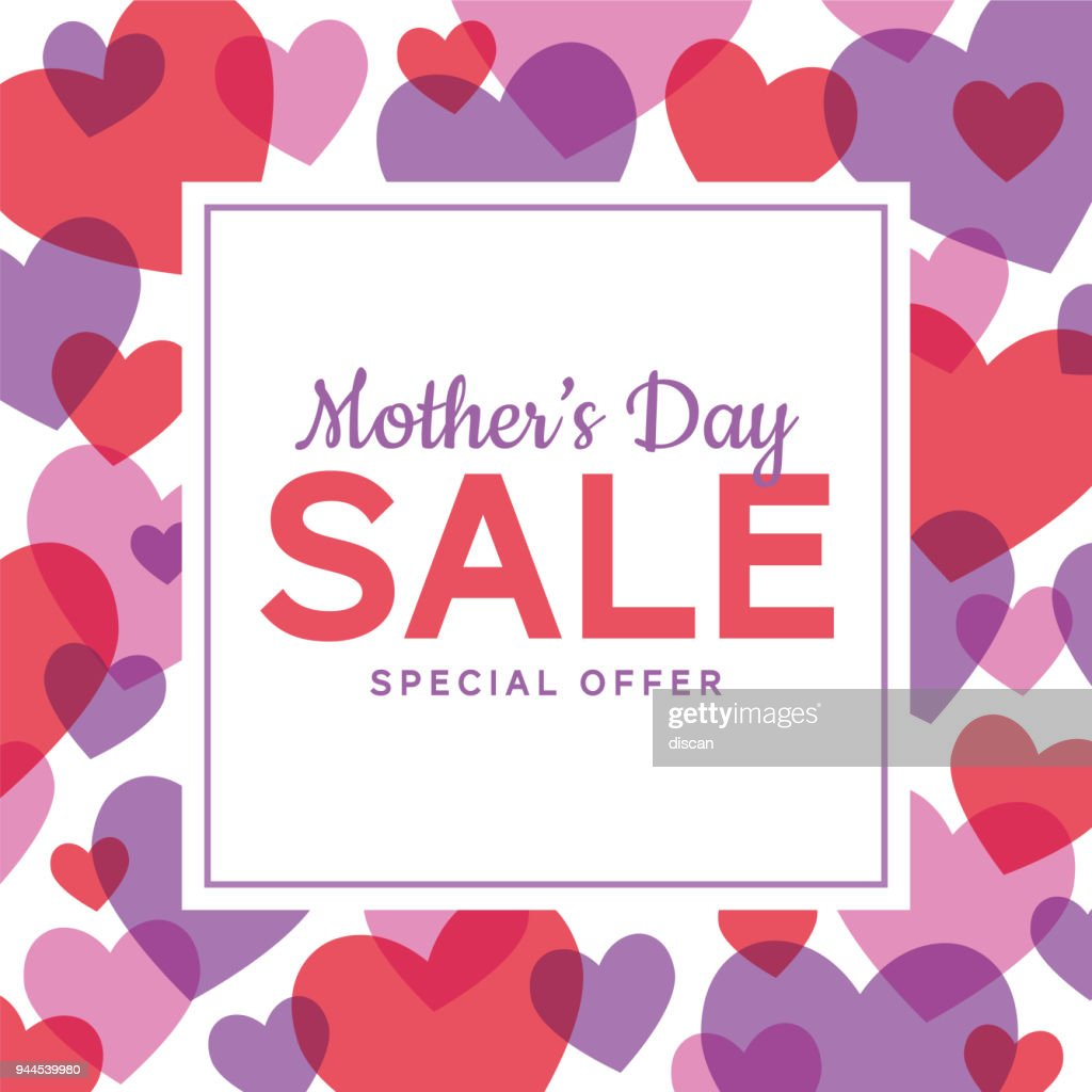 Mother's Day Sale special offer template for business, promotion and advertising. : Vector Art