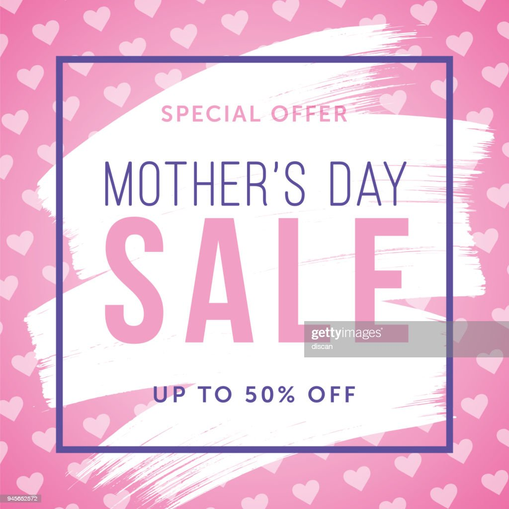 Mother's Day Sale special offer template for business, promotion and advertising : Vector Art