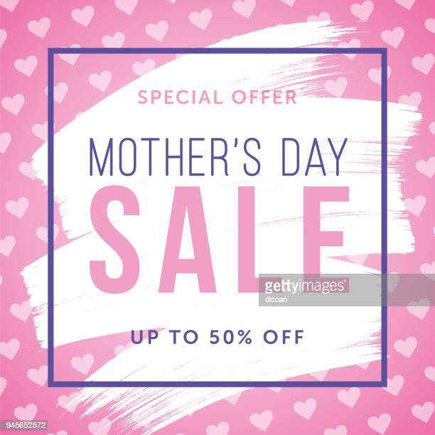 mother's day sale special offer template for business, promotion and advertising - mothers day stock illustrations
