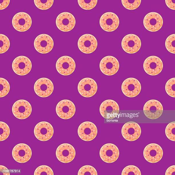 ilustrações, clipart, desenhos animados e ícones de dia das mães sem costura padrão - donut