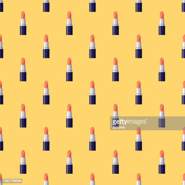 mother's day seamless pattern - lipstick stock illustrations