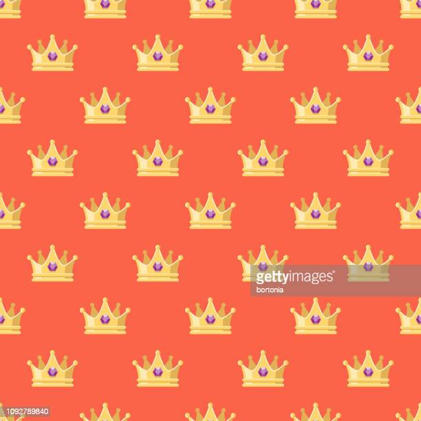 mother's day seamless pattern - royal person stock illustrations