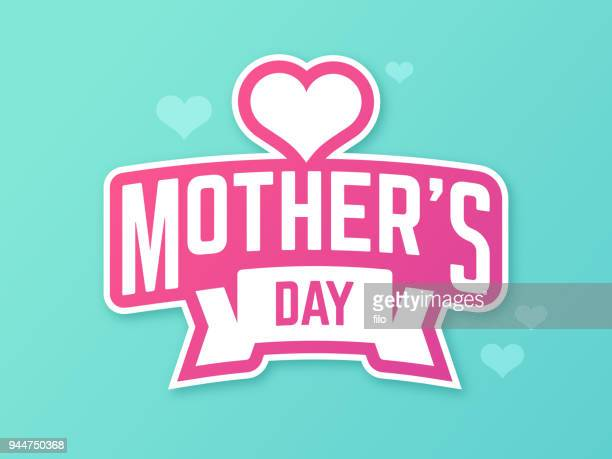 mother's day symbol - mothers day text art stock illustrations