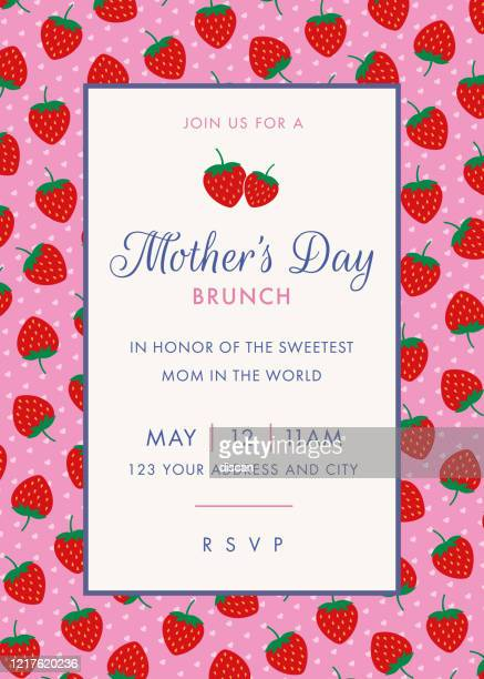 mothers day themed invitation design template. stock illustration - gift tag note stock illustrations