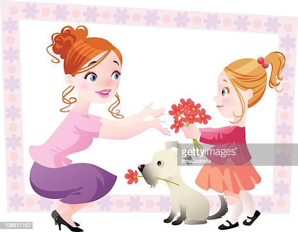 ilustraciones, imágenes clip art, dibujos animados e iconos de stock de el día de la madre - mothers day