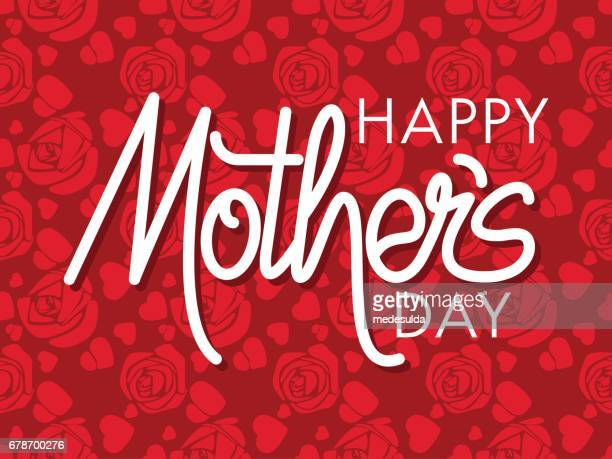 mother's day - mothers day text art stock illustrations