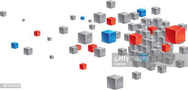 illustrations, cliparts, dessins animés et icônes de mouvement de cubes - jeu de construction