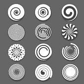 Motion spiral, swirl vector set