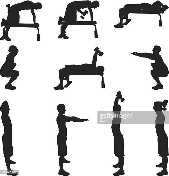 Motivation Homme faisant de l'exercice