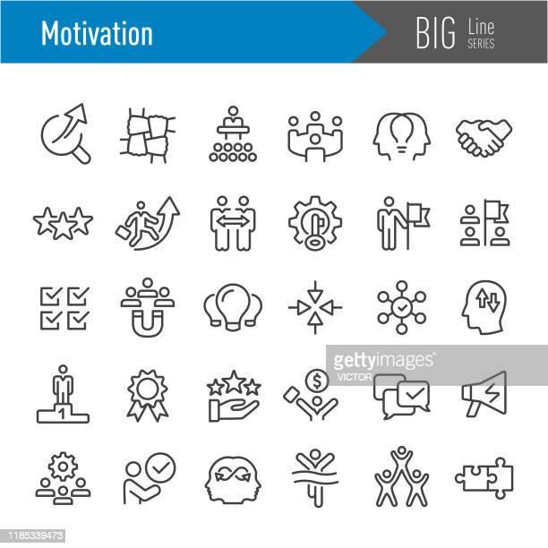 ilustrações, clipart, desenhos animados e ícones de ícones da motivação - série grande da linha - influencer award