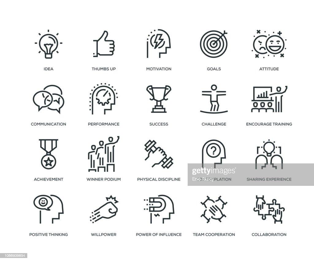 Motivation-Icons - Line Serie : Stock-Illustration