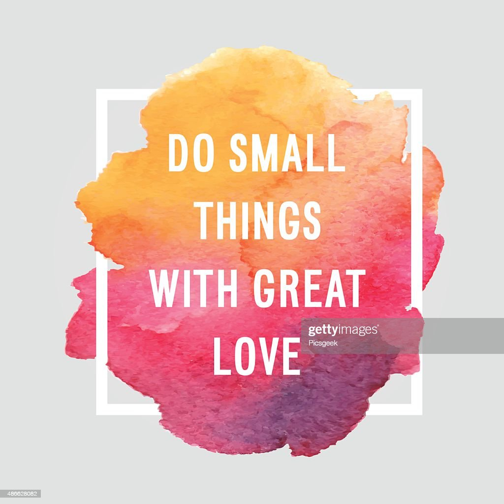 Motivation poster 'With great love'.