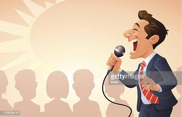motivational seminar - karaoke stock illustrations