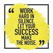 Motivational Success Quote Poster Design