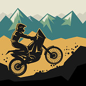 Motocross abstract background