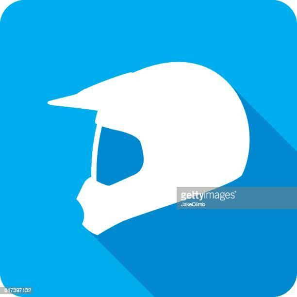 motocross helmet icon silhouette - helmet visor stock illustrations, clip art, cartoons, & icons