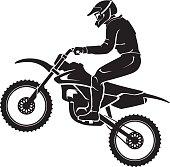 Motocross Sport Silhouette