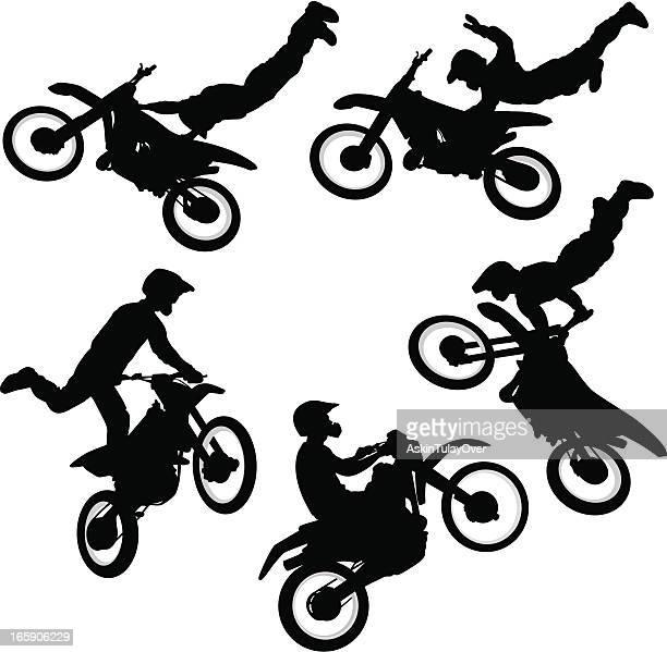 ilustraciones, imágenes clip art, dibujos animados e iconos de stock de motocross - motocross