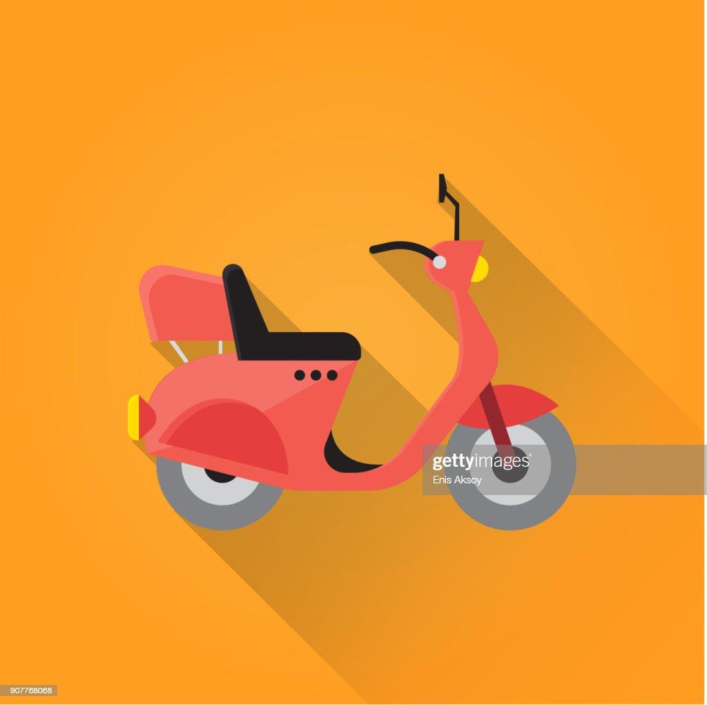 Motocycle Flat Icon : stock illustration