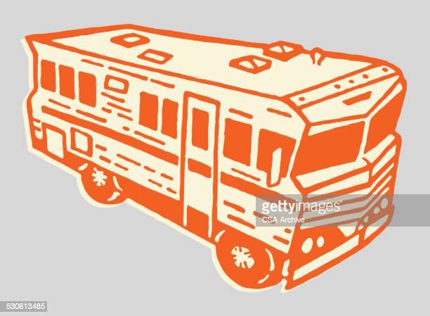illustrations, cliparts, dessins animés et icônes de camping-car - camping car