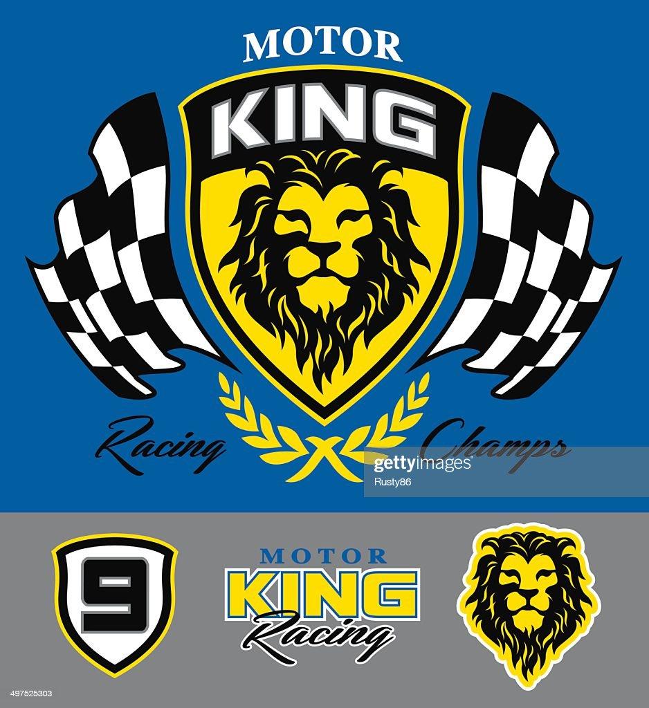 Motor lion racing graphic set