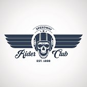 motor logo graphic design. icon, Sticker, label, arm