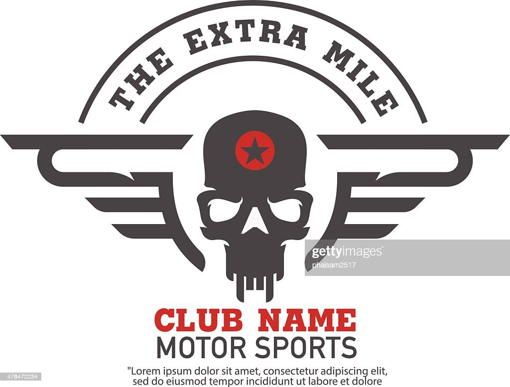 motor logo graphic design. logo, Sticker, label, arm